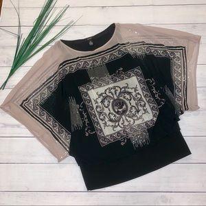 Alfani Kimono Sleeve Top - sz S